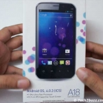 Karbonn A18 Unboxing & first looks