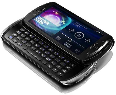 Sony XPERIA Pro QWERTY Gingerbread Android phone