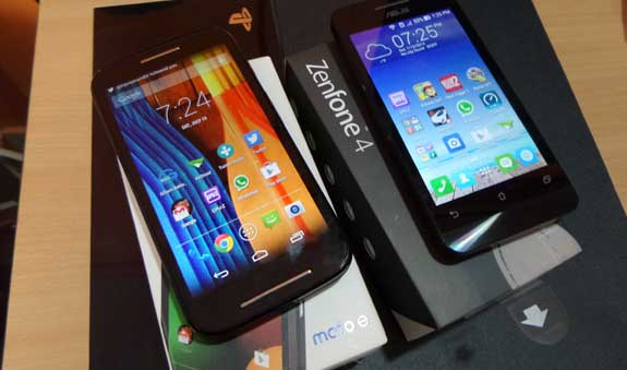 Motorola Moto E Vs Asus Zenfone 4, Face-off between best entry level budget smartphone!